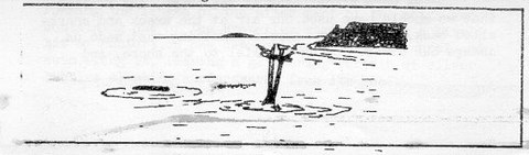 Sketch of the wreck of the Willyama - Geoff Mower, November 1980